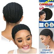 Vivica A. Fox - CORNROW EXPRESS CAP - Straight Back-MEDIUM Mesh Weave Cap in OFF BLACK