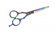 Suvorna Professional Barber Multicolor Titanium Razor Edge Hair Cutting Shears/Scissors Razeco E45, Multicolor, 350ml