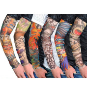 Nsstar 6pcs/10pcs/20pcs Fake Temporary Fake Slip on Tattoo Arm Sleeves Body Art Arm Stockings Accessories (6PCS