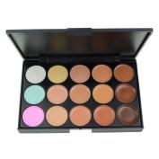 EVERMARKET 15 Colours Professional Concealer Camouflage Makeup Palette Contour Face Contouring Kit