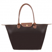 Witery® Fashion Designer Waterproof Casual Nylon Tote Bag / Top Handle Handbags / Shoulder Bag Coffee