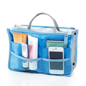 Witery® Travel Essential Bags-in-Bag,Travel Storage Mesh Bag Organiser iPad Case Cosmetic Bag Make-up Beauty Wash Bag Blue