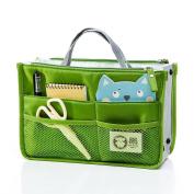 Witery® Travel Essential Bags-in-Bag,Travel Storage Mesh Bag Organiser iPad Case Cosmetic Bag Make-up Beauty Wash Bag Green