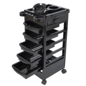 High Quality Hair Salon Rolling Trolley Storage Cart w/5-Drawer WOrkstations