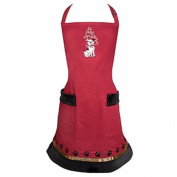 """Imprinted """"Sit Stay Drink """" Cotton Twill Wine Aprons w/ Embroidery & Coffee Coloured Ribbon Accent"""