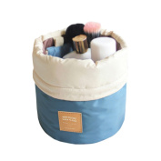 Bao Core BXT Travel Cylinder Makeup Bag Wash Toiletry Bag Case Pouch Bathroom Organiser with a Small Storage Bag