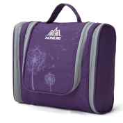 AoMagic Large Capacity Travel Cosmetic Shaving Bag Business Toiletry Bag Purple