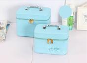 Annie Queen Cosmetics & Makeup Train Case (2 Bags/set)