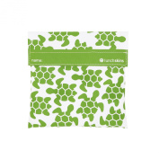 Lunchskins Reusable Sandwich Bag, Green Turtle