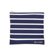 Lunchskins Zippered Bag, Medium, Navy Stripe