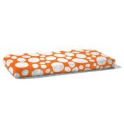 Nook Organic Fitted Crib Sheet, Poppy Orange