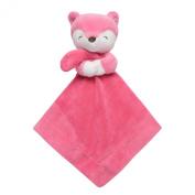 Carter's Cuddle Plush Blanket, Pink Fox