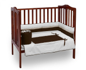 Baby Doll Royal Port-a-Crib Bedding Set, Chocolate