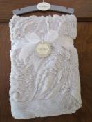 Kyle & Deena Plush Grey Paisley Baby Blanket