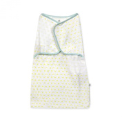 Just Born 100% Cotton Simply Secure Swaddle, Sweet Pea Green