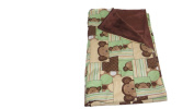 Jojo's Boutique Patchwork Monkey Blanket 80cm W x 90cm L