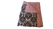 Jojo's Boutique Damask Pink Minky Baby Blanket 80cm W x 90cm L