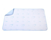TELLM Infant isolation pad autumn cotton oversized child menstrual baby mattress waterproof-breathable bamboo fibre sheets Blue Bear Size 70cm*120cm