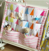 FS Baby Crib Nursery Nappy Bag Storage Stacker Hanging Organiser With 9 Pockets Baby Room Decor