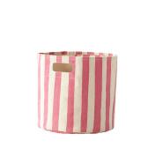 Petit Pehr Canvas Storage Bins - Pink Stripe