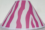 Pink Zebra Print Lamp Shade / Zebra Print Nusery Room Decor