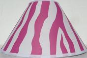 Pink Zebra Print Lamp Shade / Zebra Print Nusery Room Decor