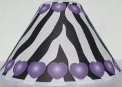 Purple Hearts Zebra Print Lamp Shade / Zebra Print Nursery Decor