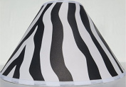 Zebra Print Lamp Shade in Black / Zebra Print Nursery Decor