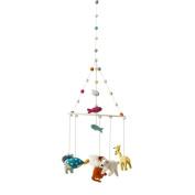 Petite Pehr Felted Wool Crib Mobile - Noah's Ark Animals