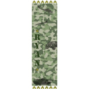 Personalised Military Growth Chart Wall Decal, Woodland Green Camo