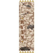 Personalised Military Growth Chart Wall Decal, Desert Brown Camo