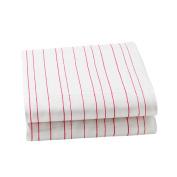Auggie Crib Sheet, Painted Stripe/Pink