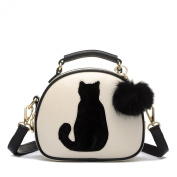 Women's Pu Leather Waterproof Cross Body Shoulder Bags Wallet Lucky Cat Handbag