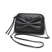 Tenworld Charming Women Girl PU Leather Shoulder Handbag Bowknot Satchel Tote