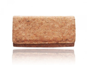 naturaism Cork Long Wallet Women Clutch Purse Bags with Zipper Inside Phone Wallet