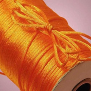 100Yards 2MM Beading Cord Satin Rattail Cord Trim Shamballa Macrame Beading Nylon Kumihimo String Crafts Orange