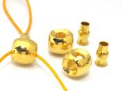 1 SET - 3 hole Guru Bead gold tone plated with column bead - GB040