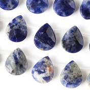 Sodalite Beads 12x15mm Faceted Teardrop - 8 Inch Strand