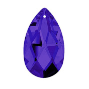 Genuine Swarovski Charm 3.8cm Blue Violet Purple Faceted Almond with Laser Engrave Logo with Certificate
