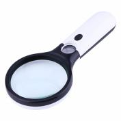 Yosoo 3 LED Light 45X Handheld Magnifier Reading Magnifying Glass Jewellery Loupe UUSB