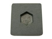 30ml Gold Hexagon High Density Graphite Mould 30ml Silver Bar Ingot Copper