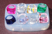 Multi-Clear-silicone Ring Moulds 8 ps ,mix rings,mix size (4.5), (6), (7), (7.75), (8), (8.25)
