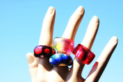 Clear silicone UNISEX rings Mould. MIX Size,clear multicolor 7.25, 8. Blue and red -size 7,8