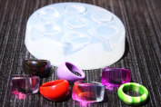 Clear silicone rings Moulds 7pc size 6,5, 7, 7,5, 8, 9.
