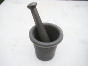 Cast Iron Mortar Pestle Rock-Ore Crusher-Pulverizer-Assay-Gold-Silver-Quartz Large