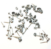 Titanium earring supplies,80 pcs.40-4mm (small)pad posts and 40 pcs. stainless backs,hypoallergenic jewellery