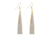 Leiothrix Unique Scrub Droplets Shape Alloy Earrings for Women Girls Suitable for Weeding Party Gift Casual