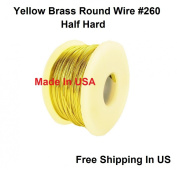 26 Ga Round Half Hard Yellow Brass Wire