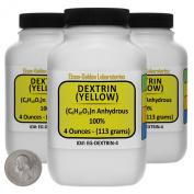 Yellow Dextrin [(C6H10O5)n] 100% ACS Grade Powder 350ml in Three Space-Saver Bottles USA
