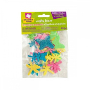 Creative Hands by Fibre-Craft sm'Art Foam Butterflies & Dragonflies Glitter Stickers, 40pc